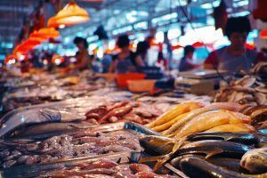 39833491 - seafood at the fish market